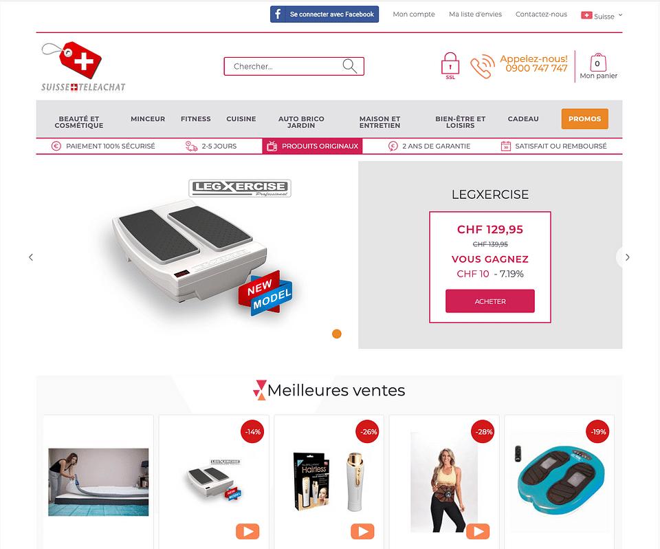 Eshop Magento www.suisseteleachat.com