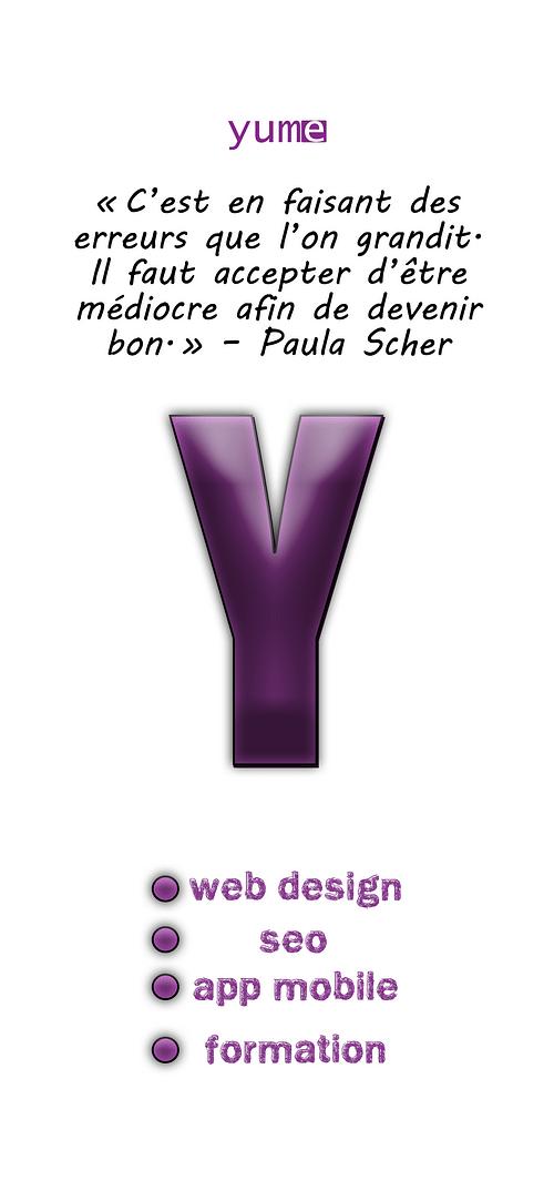 Infographies publicitaire de Yume - Website Creation