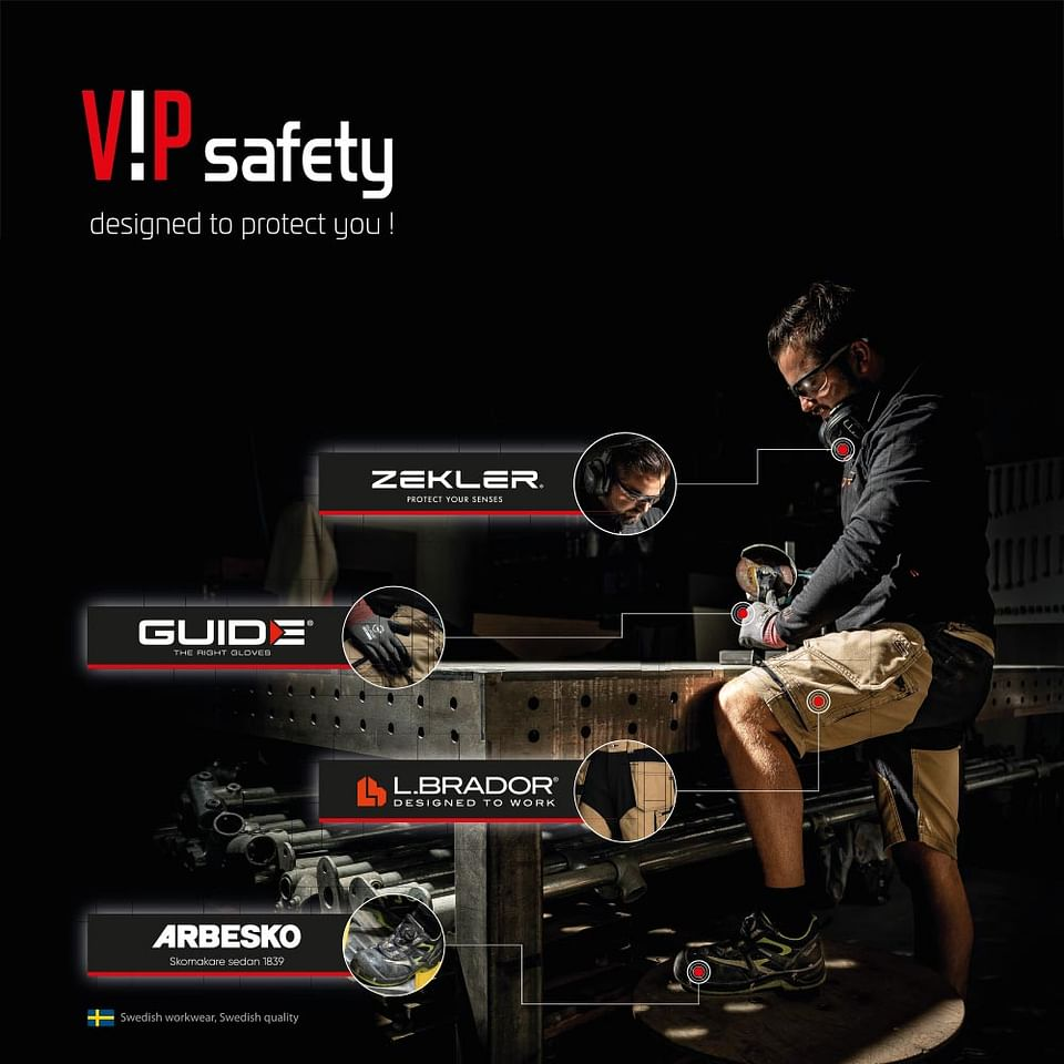 Graphic design en fotografie voor VIP Safety