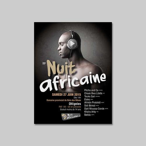 Festival Nuit Africaine - Design & graphisme
