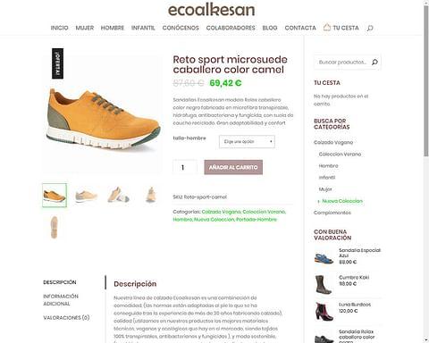 Tienda Online + Web Corporativa Empresa de Calzado