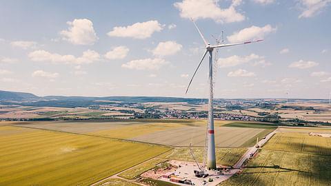 Bau einer Windkraftanlage