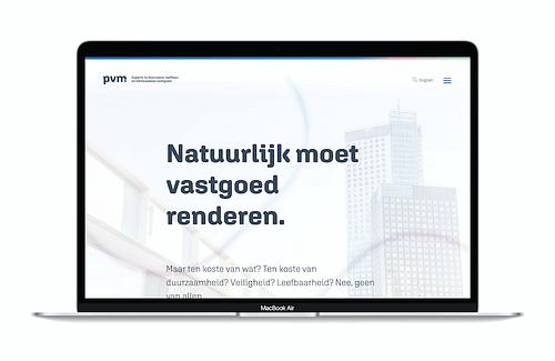 Corporate website PVM - Website Creatie
