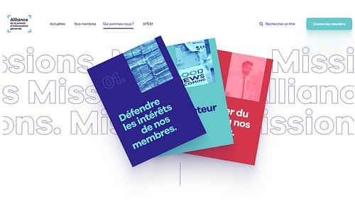 Alliance Presse - Création du site internet - Création de site internet