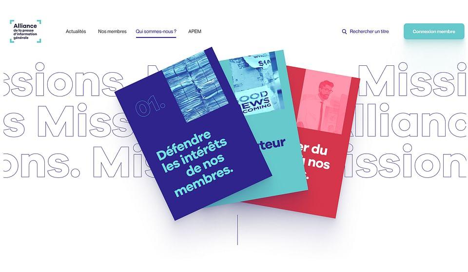 Alliance Presse - Création du site internet
