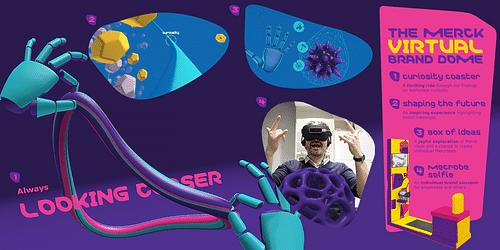 Merck Virtual Reality Branding Dome - Webanwendung
