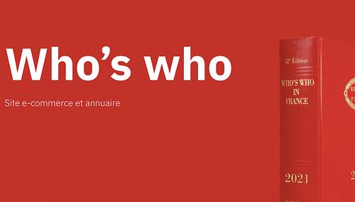 Who's who - Site e-commerce - Application web