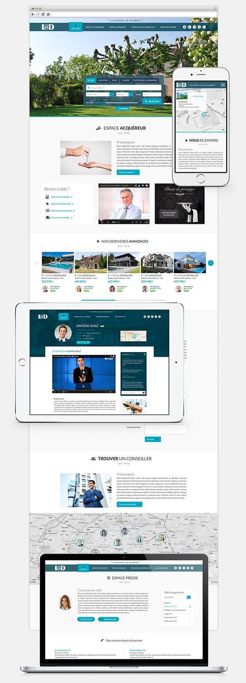 Refonte site immobilier - I@D - E-commerce