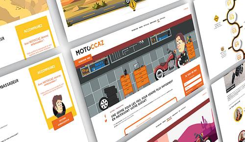 Motoccaz - Stratégie & site internet e-boutique - Image de marque & branding