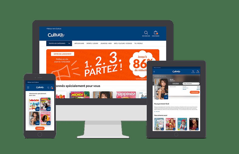 Kiosque presse e-commerce Cultura