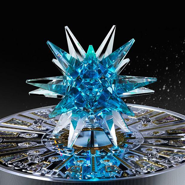 Swarovski®-Kristall  mit tausenden Facetten.