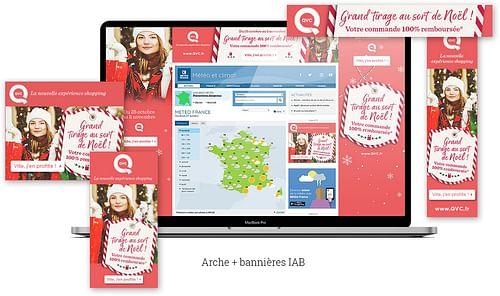 Création de bannières web QVC - Publicité
