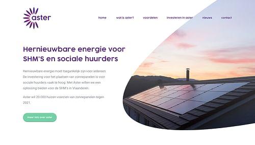 Aster - Website Creatie