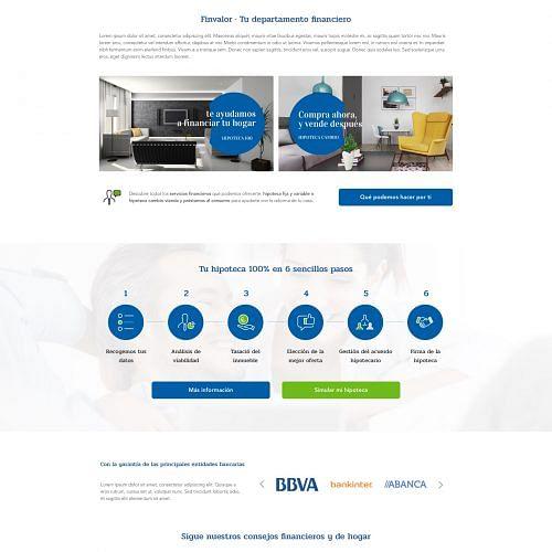 Finvalor - Creación de Sitios Web