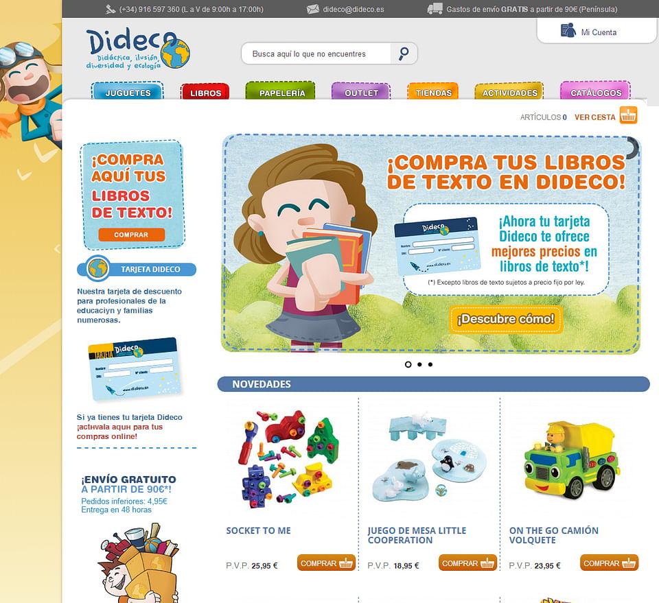 Programación web ecommerce Dideco