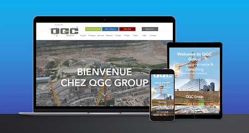 Site Web QGC GROUP - Création de site internet