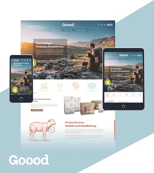 Shop Relaunch für Goood - Webseitengestaltung