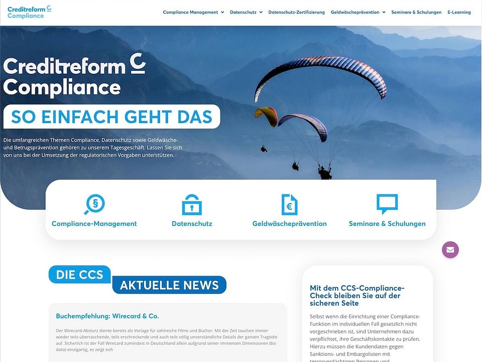 Creditreform: Gestaltung Website & Neuausrichtung