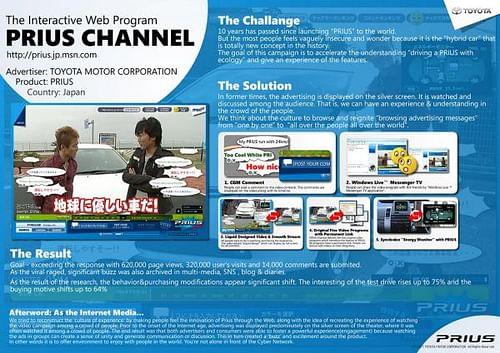 TOYOTA PRIUS CHANNEL - Website Creation