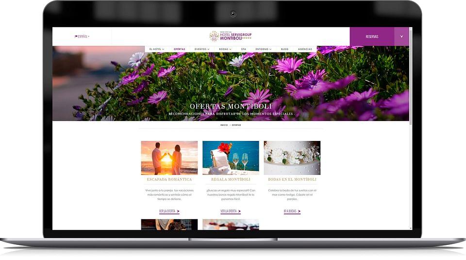 Diseño del website para un hotel de lujo