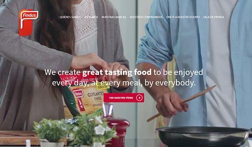 Evolutivo sitio web corporativo Findus España - Creación de Sitios Web