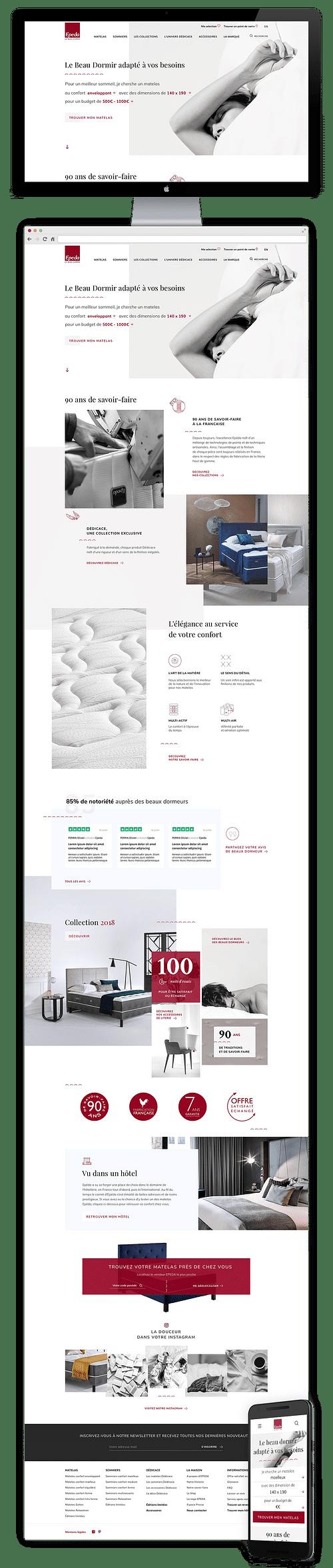 Refonte site Epeda - Création de site internet