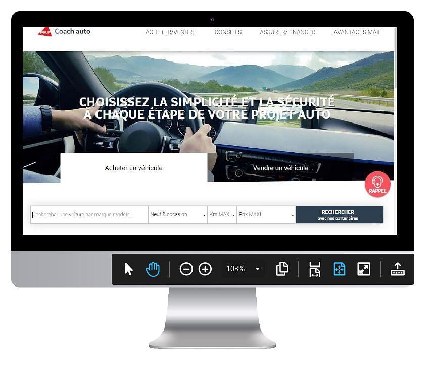 Création Site Coach Auto MAIF