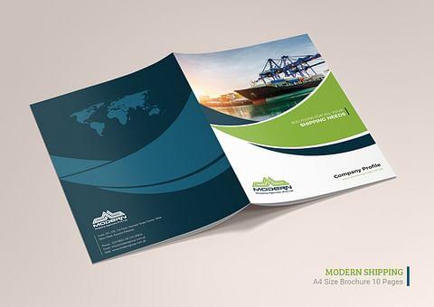 Company Profile Design for Modern Shipping Agencie