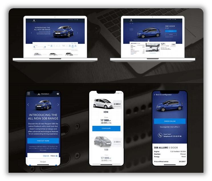 Citroen // Peugeot Online Konfigurator