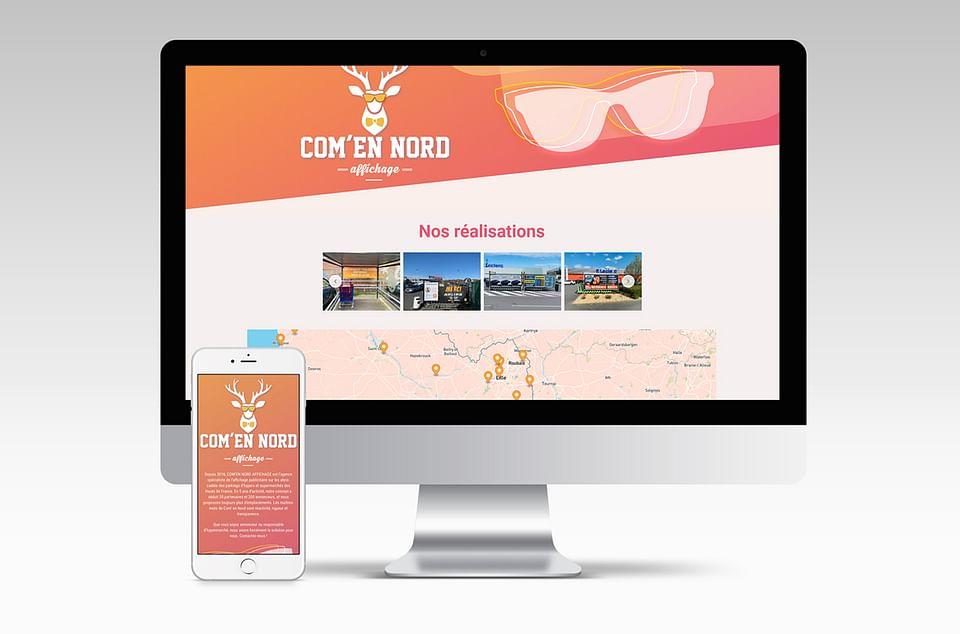 Site web vitrine - Com'en Nord affichage