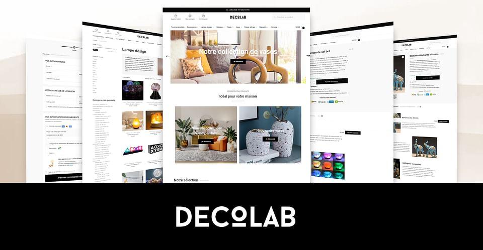Deco Lab : Création site e-commerce