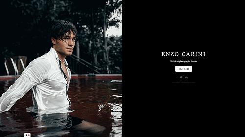 Lancement business en ligne d'Enzo CARINI - Création de site internet