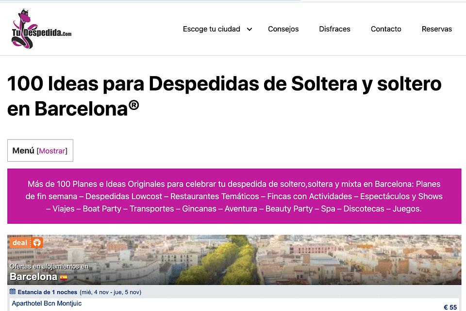 Despedidas en Barcelona
