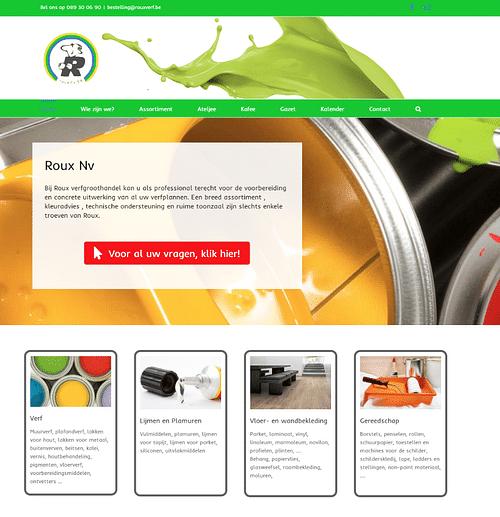 Website verfgroothandel - Website Creatie