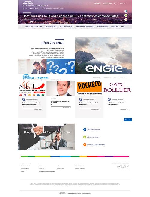 Engie - Conception du site E&C - Création de site internet