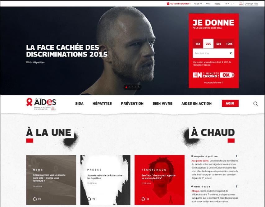 Un site représentatif de ses valeurs pour AIDES