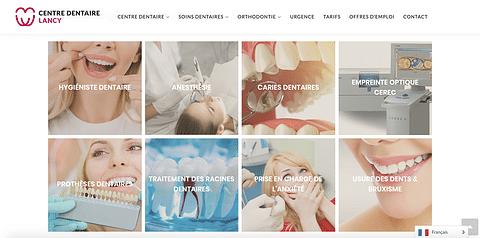 Refonte de site internet Centre dentaire Suisse