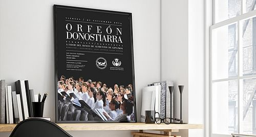 Cartel concierto Orfeón Donostiarra - Diseño Gráfico