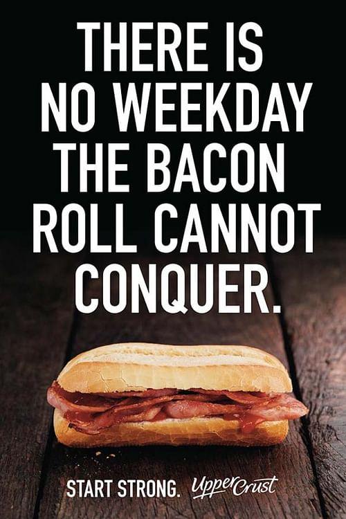 bacon roll - Advertising