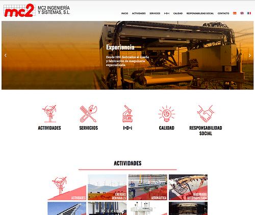 Website Mc2Insiste - Creación de Sitios Web