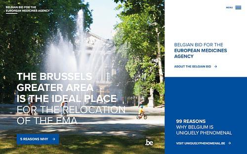 Belgian bid to host the European Medicines Agency - Website Creatie