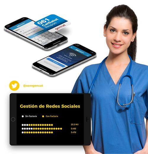 App 061 y twitter Sistema d'Emergències Mèdiques - Branding y posicionamiento de marca