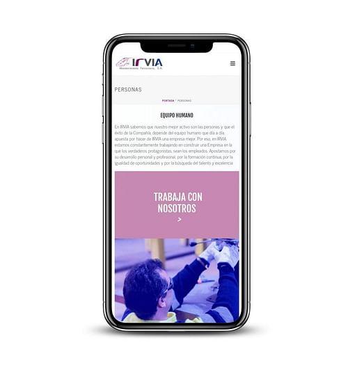 Web site Irvia - Creación de Sitios Web