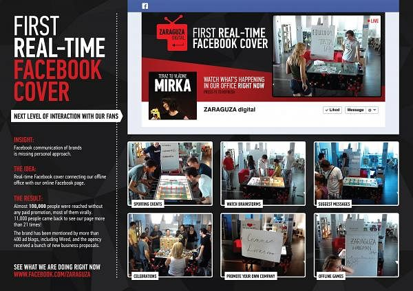FIRST REAL-TIME FACEBOOK COVER