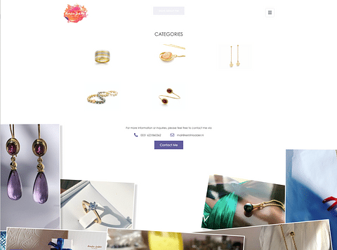 Jewelry Showcase: Website & Online Marketing