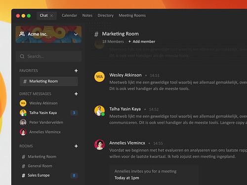 Meetweb (Videocalling & Teamchat app) - Website Creatie