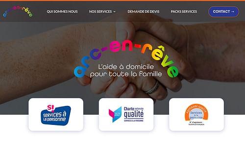 Site vitrine Arc en Rêve - Création de site internet