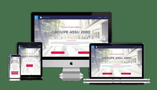 Création du site du groupe Assu2000 - Création de site internet