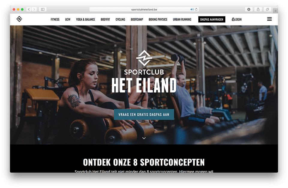 Building the brand for the biggest gym in Antwerp
