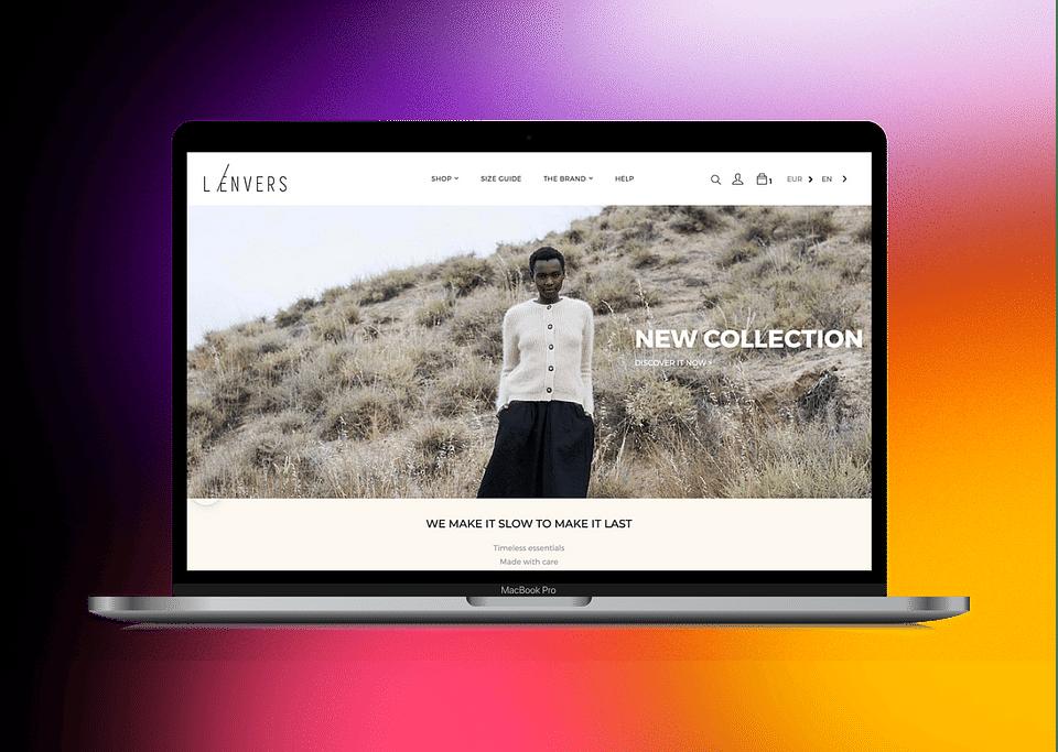 L'envers - site e-commerce Shopify